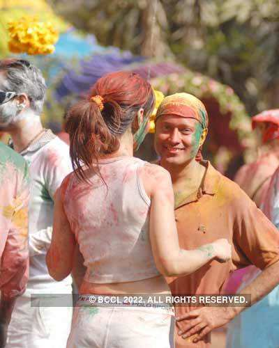 Vineet Jain's Holi Party 2008 -19