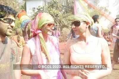 Foreign beauties at Vineet Jain's Holi Party