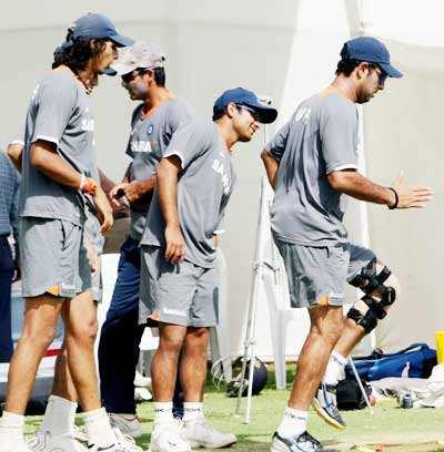 India-SA: Practice session