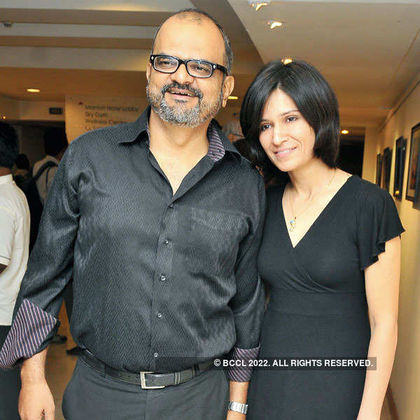 Celebs at a photography exhibition