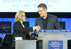 Matt Damon honoured for water aid work