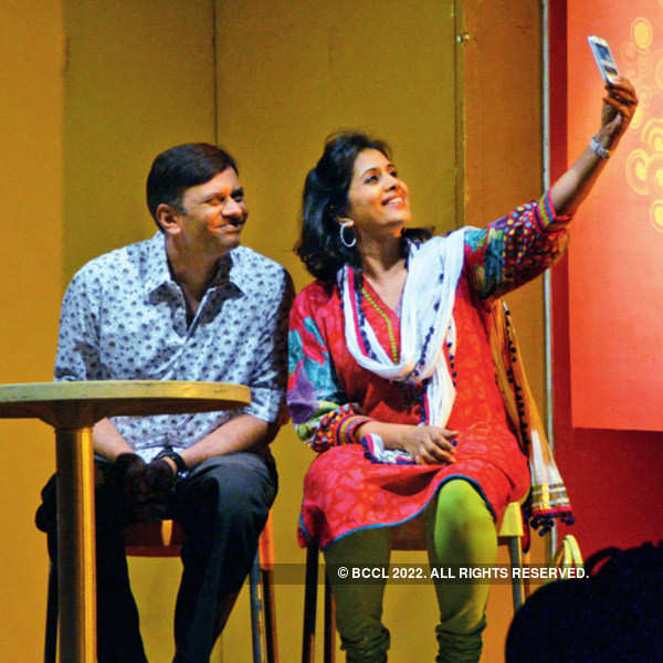 Sonali Kulkarni at a Marathi play