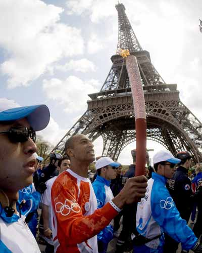 Olympic protest in Paris