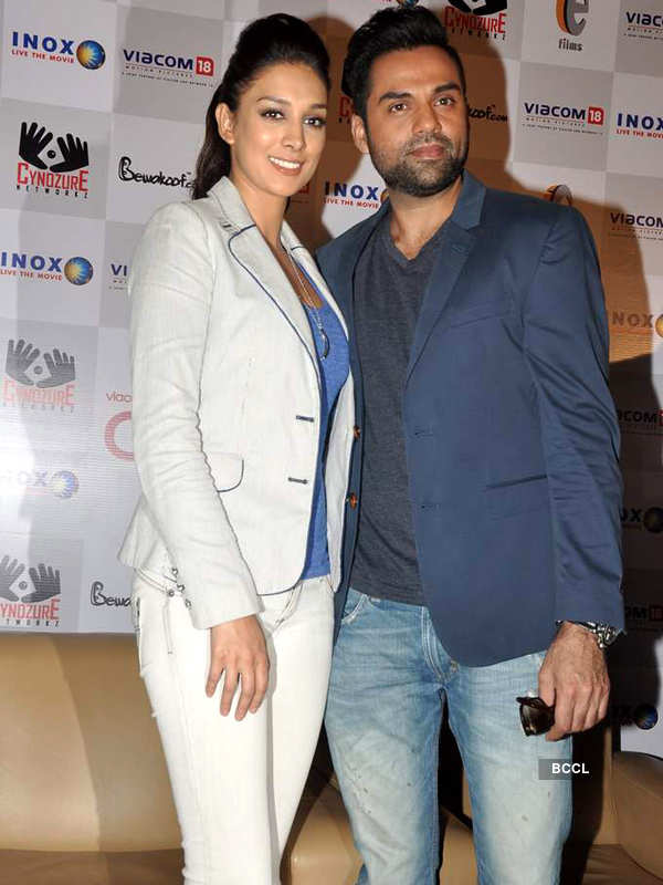 Abhay, Preeti @ merchandise launch