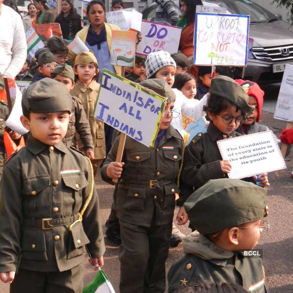 Children celebrates Bose's birth anniversary