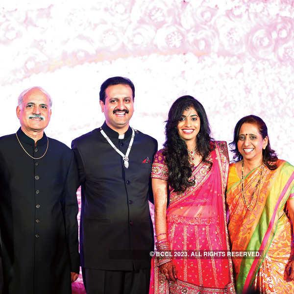 Aditya Dadhe and Sayli Deole's wedding party