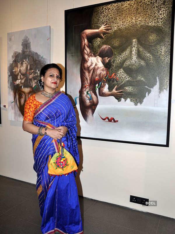 Palash Halder's art show