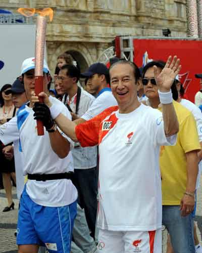 Olympic torch in Macau
