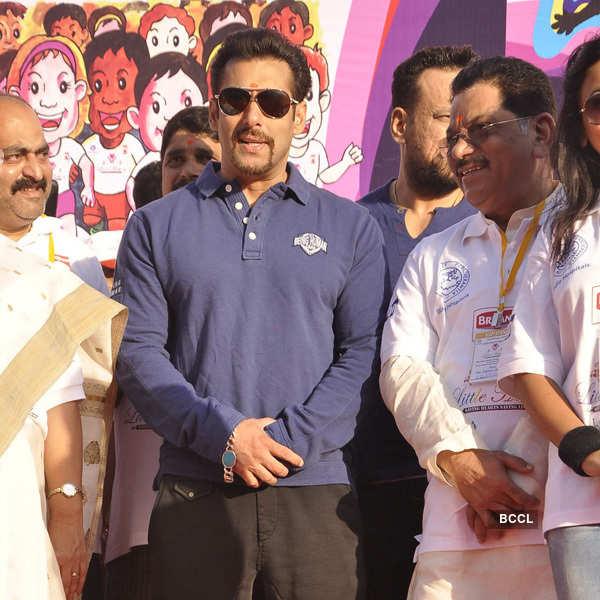 Salman flags off Little Hearts Marathon