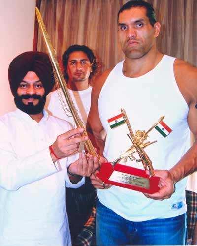 'The Great Khali' in Delhi