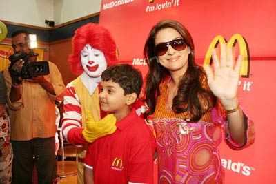 Bhoothnath crew at McDonald's