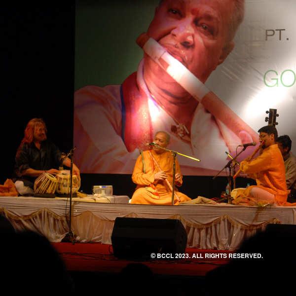 Pt Hariprasad at a musical event