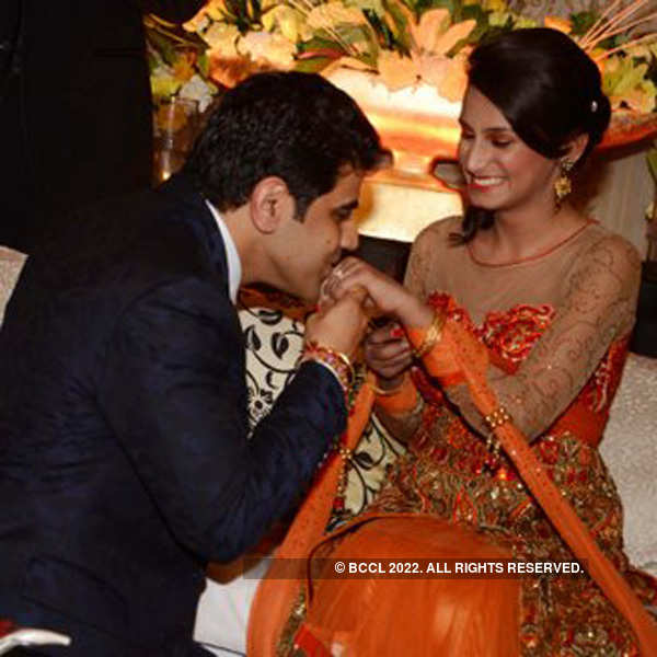 Aanchal and Jatin's engagement ceremony
