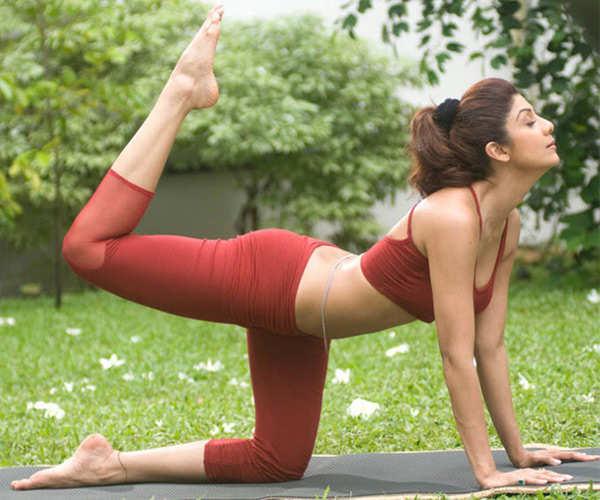 Shilpa Shetty uses yoga to release stress