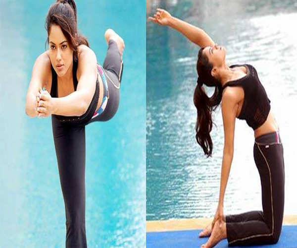 Sameera Reddy's fitness regime comprises of a good dose of yoga