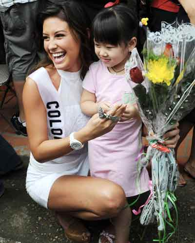 Ms Universe: Visit to SOS village