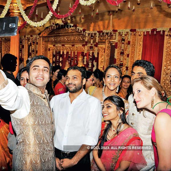Kaushik & Ashritha's wedding ceremony