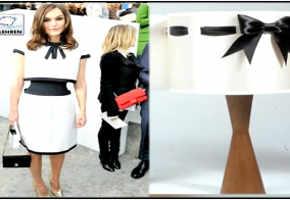 Keira Knightley dresses as lampshade