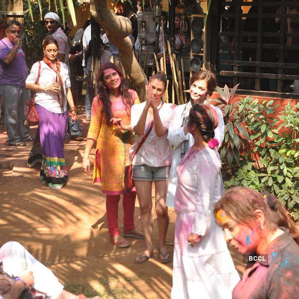 Shabana Azmi's Holi party