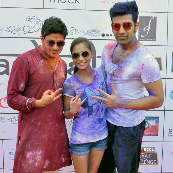 TV stars @ Holi party