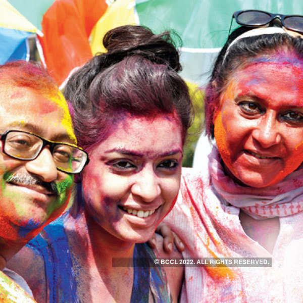 Holi party of a channel
