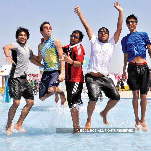 Patna celebrates Holi at a water park