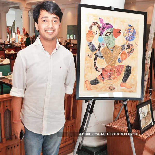 Pankaj Gupta's painting exhibition