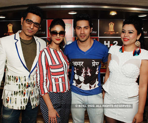 Varun, Illeana at a fashion store
