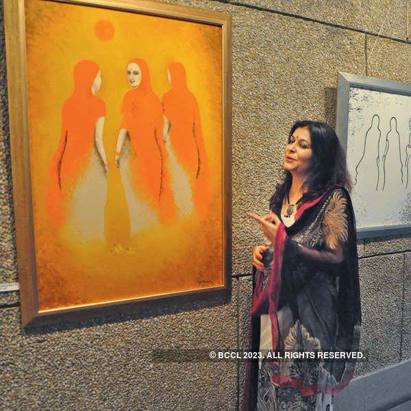 Kajal Nalwa's art exhibition