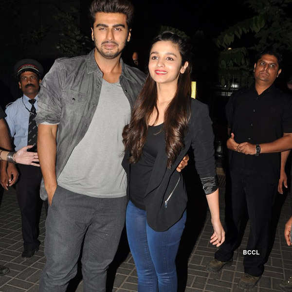 Arjun Kapoor and Alia Bhatt during the promotion of their ...