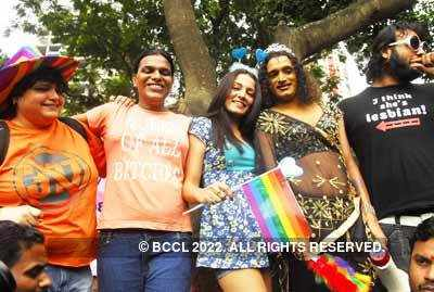 Celina at Gay rally