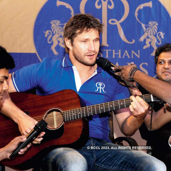 Rajasthan Royals players at Amity University