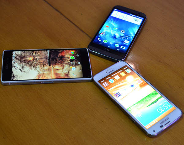 In pics: HTC One (M8) vs Samsung Galaxy S5 vs Sony Xperia Z2