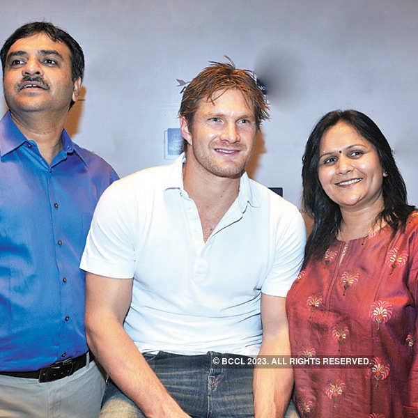 Candid Shane Watson at Novotel Ahmedabad