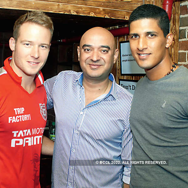 Players at IPL party