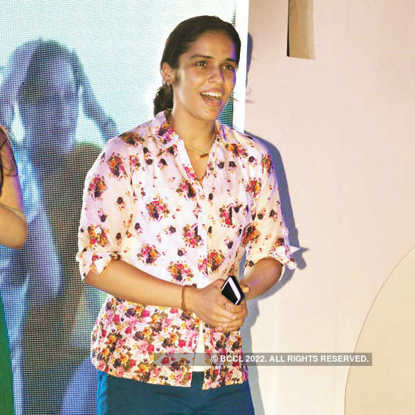 Saina Nehwal at Badminton Association's event