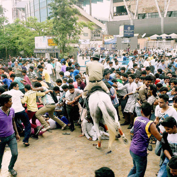 Chaos outside Eden Gardens