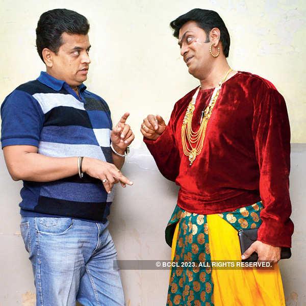 Marathi actors at a play