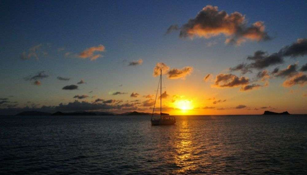 Sailing in the stunning British Virgin Islands