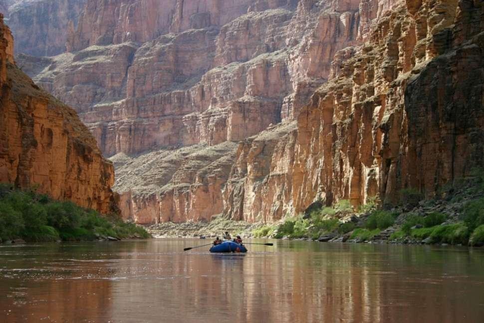 Rafting along the Grand Canyon