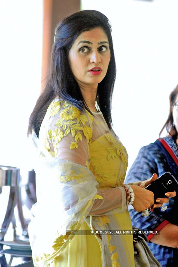 Shobhaa De in a talk show