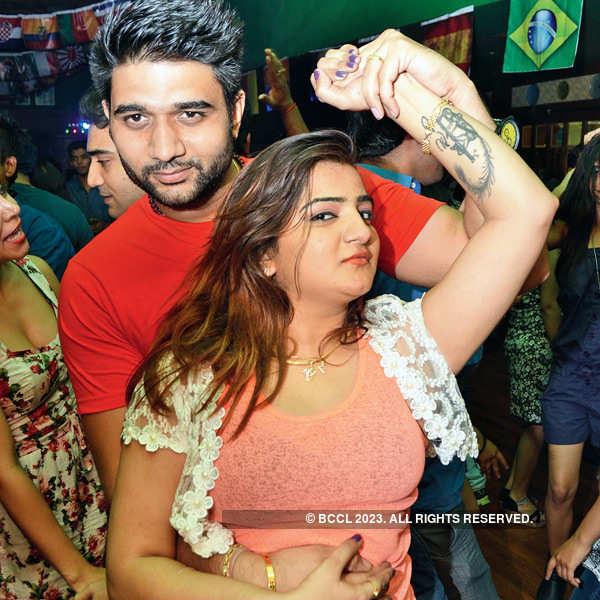 Revellers celebrate FIFA finals in Bhopal