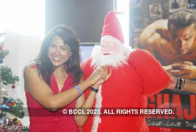 Stars celebrating Christmas