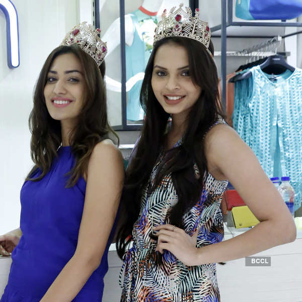Miss Indias at store launch in Gurgaon