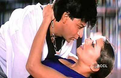 Madhuri with 'King Khan'