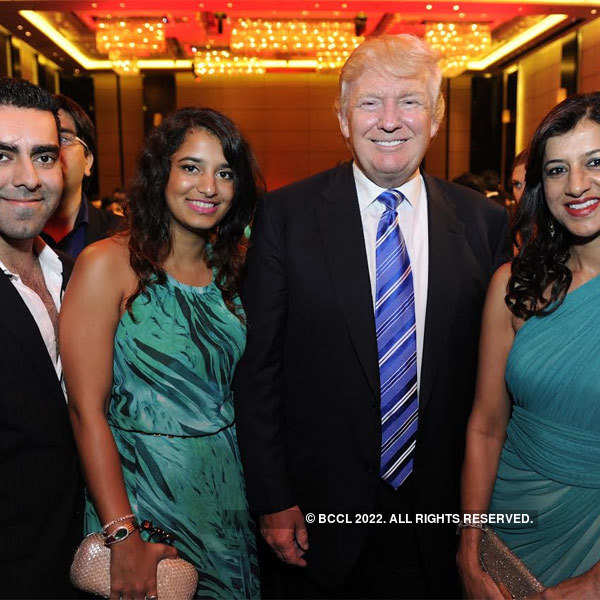Donald Trump at a dinner party in Pune