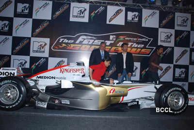 Deepika at F1 car launch
