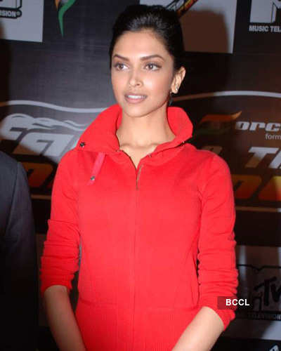 Deepika at F1 car launch