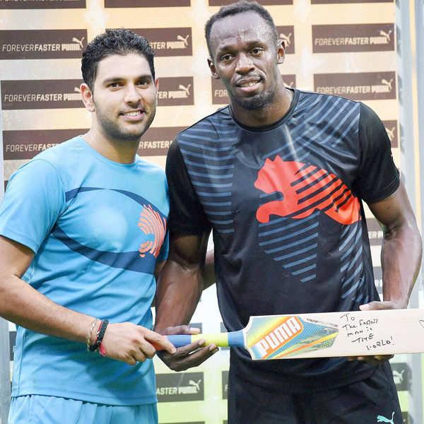 Usain Bolt beat team Yuvraj in exhibition match