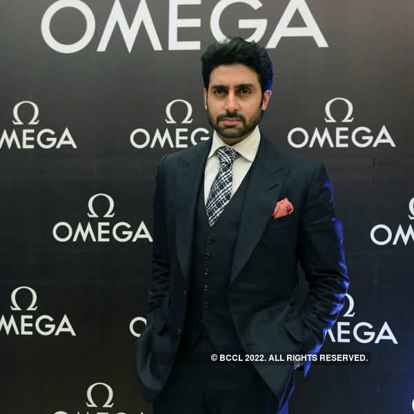 Abhishek unveils Omega watches
